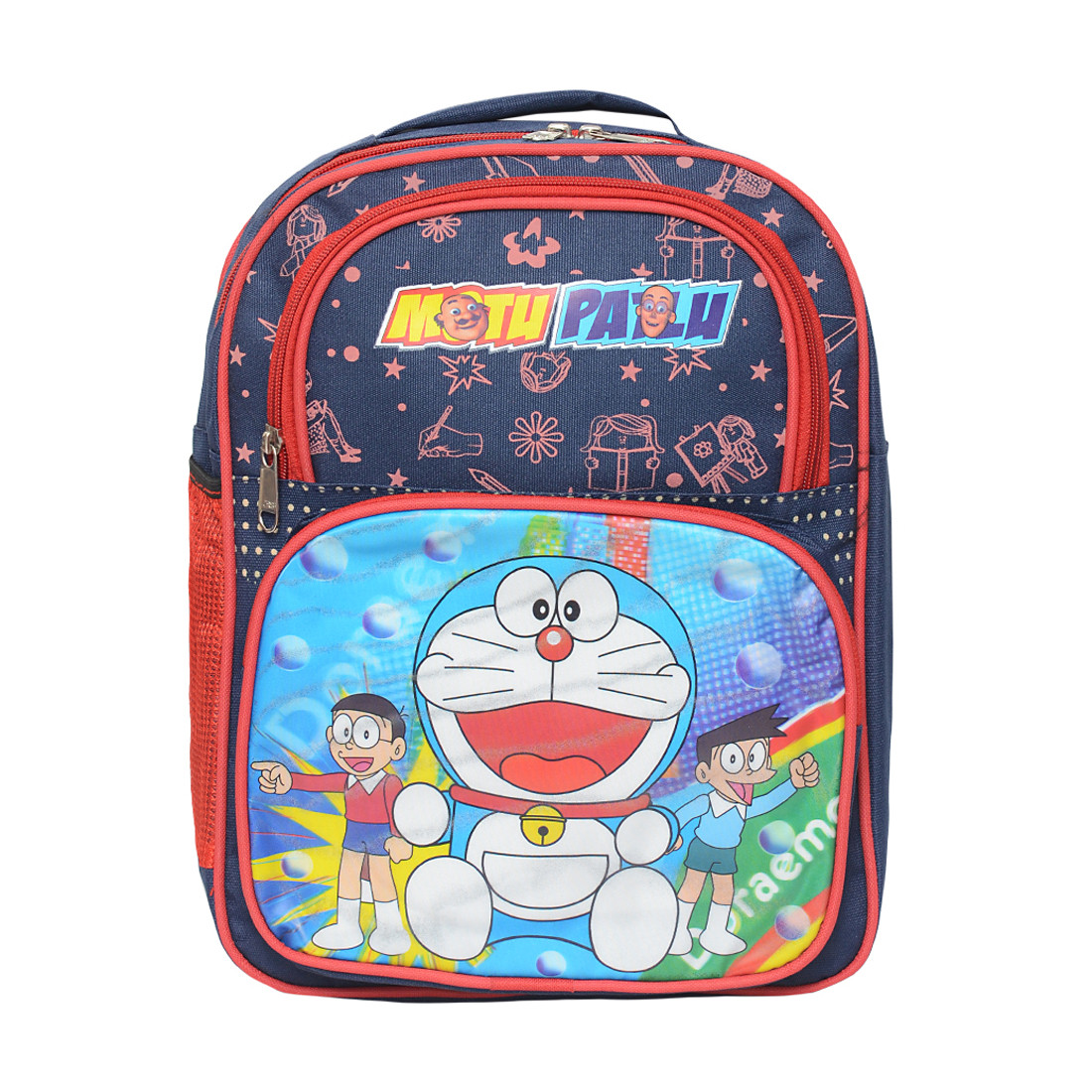 SDC Motu Patlu Polyester School Bag + Milton Water Bottle + Pencil ... 0a8b729d0ae25